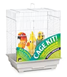 Prevue Hendryx 91320 Square Roof Bird Cage Kit, White