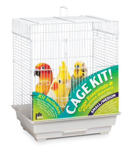 Prevue Hendryx 91320 Square Roof Bird Cage Kit, White 1