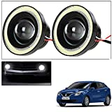 Vheelocityin 2Pc 3.5Inch Car Fog Lamp Angel Eye DRL Led Light for Maruti Suzuki Baleno 2015
