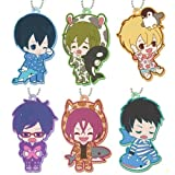 Free! Eternal Summer rubber Charm whole set of 6 (prize)