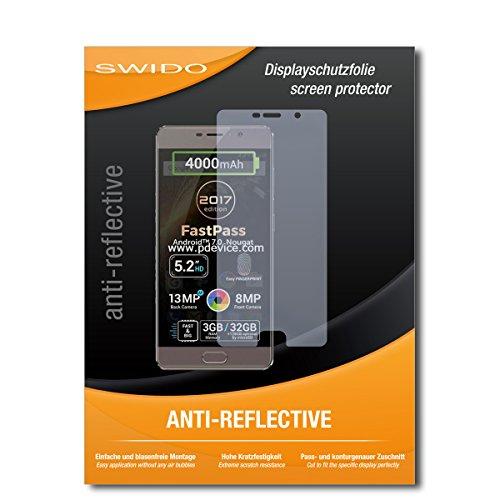 SWIDO Schutzfolie für Allview P9 Energy Lite (2017) [2 Stück] Anti-Reflex MATT Entspiegelnd, Hoher Härtegrad, Schutz vor Kratzer/Bildschirmschutz, Bildschirmschutzfolie, Panzerglas-Folie