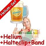 Carpeta Folienballon Set * Oktoberfest + Helium FÜLLUNG + Halte Clip + Band * für Kindergeburtstag Oder Motto-Party // Folien Ballon Helium Deko Ballongas Motto Wiesn Bayern Oktober Fest Maß Bier
