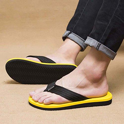 ZXCV Scarpe all'aperto I pattini degli uomini di estate portano sandali del sandwich dei sandali degli uomini Giallo