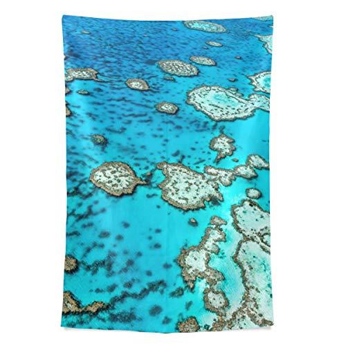 Australien Great Barrier Reef Coral Wandteppich Wandbehang Cool Post Print Für Wohnheim Home Wohnzimmer Schlafzimmer Tagesdecke Picknick Bettlaken 80 X 60 Zoll