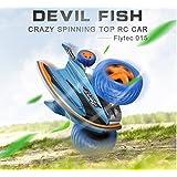 Toyshine Devil Fish Bounce Car Remote Control Stunt Car, 360 Degree Stunt, Assorted Color