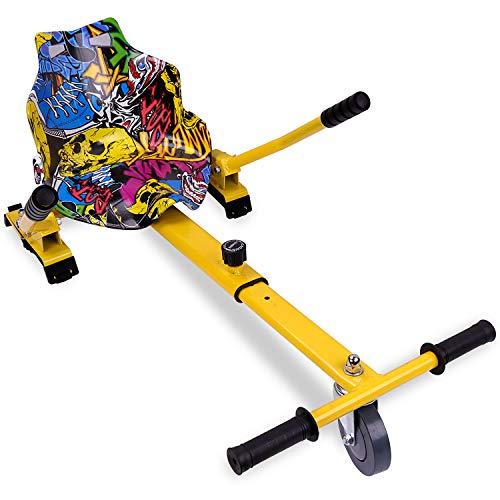 RCB Hoverkart para Hoverboard Asiento Kart para Patinete eléctrico Scooter Longitud Ajustable, Compatible con Todos los hoverboards - 6.5/8 / 8.5/10 Pulgadas (Hip)