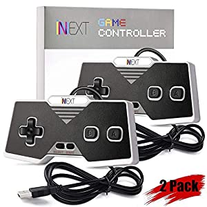 iNNEXT 2x NES USB Controller,Retro USB NES Controllers Gamepads für Windows PC Mac Raspberry Pi 3 NES Emulator