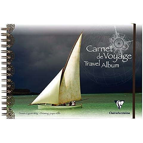 Clairefontaine 96103C - Cuaderno de viaje para técnicas en seco (A4, 30 hojas), color blanco