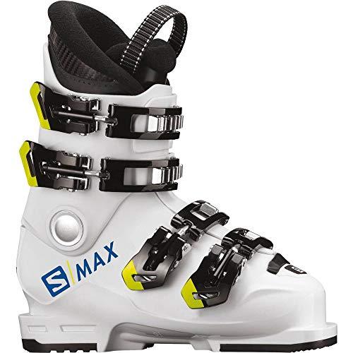 SALOMON Unisex Jugend S/Max 60T L Skistiefel, White/Acid Green, 26