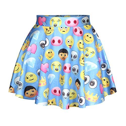 Partei Königin Frauen Irre Emoji Schrei Herz Grundlegende Rock Mini Tutu Rock (Tutu Herzen Königin Der)
