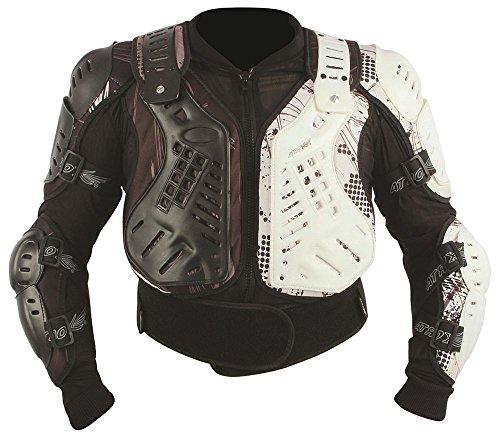 HEYBERRY Protektorjacke Brustpanzer Protektorenhemd Amour Jacket schwarz weiß Größe L - Supermoto Jacke