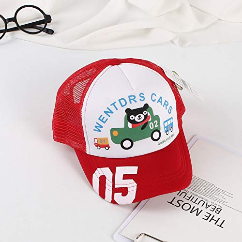 Kostüm Argentinien Für Jungen - mlpnko Kinder Mütze Mütze Jungen und Mädchen Sonnenhut Baby Mütze blau rot Kinder Baseball Cap weiß rot 檐 50-52CM