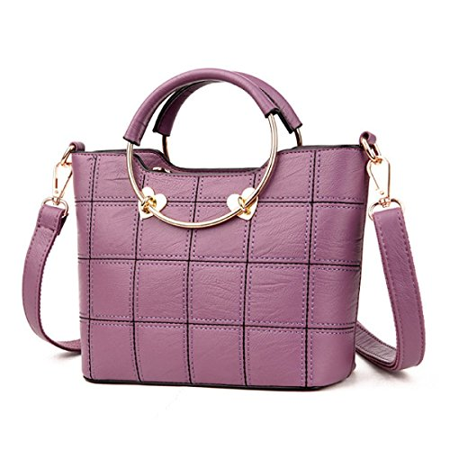 Frauen Messenger Bag Umhängetasche Handtasche Purple