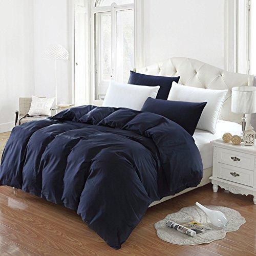 GX&XD Einfache Solide 1pc Bettbezug, Gewaschen Fade beständig Baumwolle Bettwäscheset Tröster abdeckung Für könig Königin Volle bettdecken-A 220x240cm(87x94inch) (Tröster Set Solide)