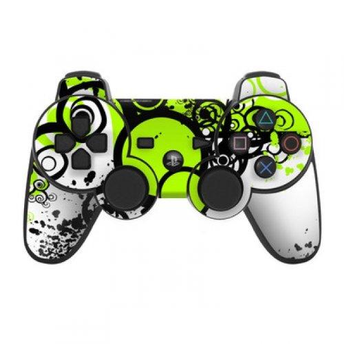 Skins4u Playstation 3 Controller Skin - Design Sticker Set für PS3 Gamepad - Simply Green
