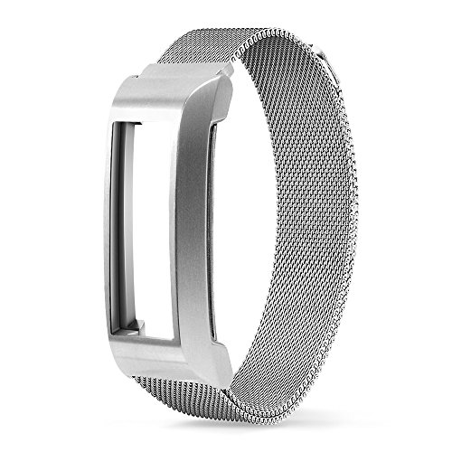 Fitbit Alta Strap, UMTELE [Unicorn Magnetic Pro] Milanese Band Stainless Steel Bracelet with Metal Frame for Fitbit Alta Fitness Tracker Silver