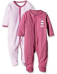 NAME IT Baby-Mädchen Schlafstrampler Nitnightsuit W/F Nb G Noos, 2er Pack
