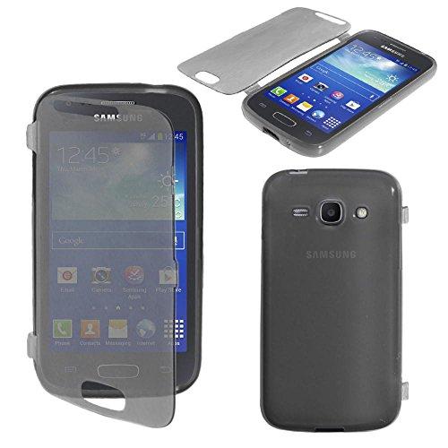 ebestStar - Compatibile Cover Samsung Ace 3 Galaxy GT-S7270/S7272, S7275 Custodia Silicone Portafoglio Gel TPU, Protezione Anti Shock AntiGraffio Antiscivolo, Nero [Apparecchio:121.2x62.7x9.8mm 4.0']