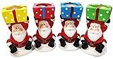 2 Christmas Santa Claus Tea Light Candle Holder Xmas Festive Home Decoration Table Party Gift