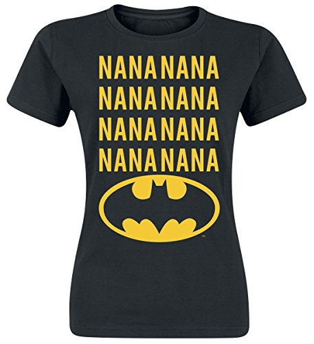 Officially Licensed Merchandise NaNa Batman Girly T-Shirt (Black), XX-Large