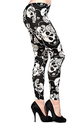Banned Apparel -  Leggings  - Donna bianco 48