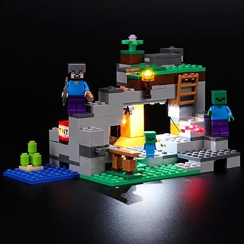 BRIKSMAX Kit Iluminación Led Lego Minecraft La Cueva