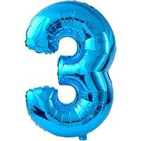 Palloncino forma Numero 3 Blu (non gonfiato)