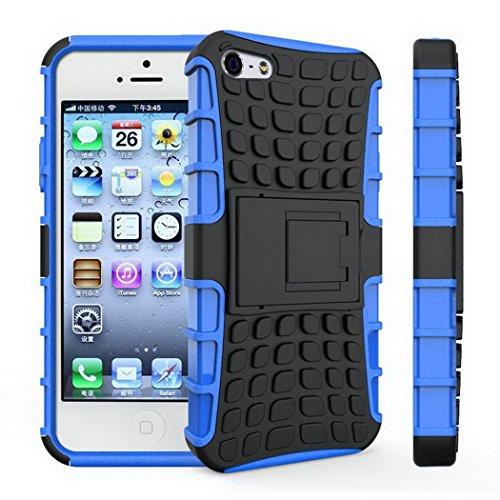 """Cas iphone 5 5 s cas souple en plastique dur support en plastique stand Capa Phone Coque 4.0 """" bleu"""