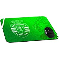 Office Rectangle Mouse Pad with Sporting Lisbon Green Image Cloth Cover Non-Slip Rubber Backing-Gaming Mousepad(8.7x7.1x0.12 Inch)