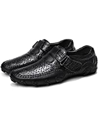 Loafer Hommes Conduite Chaussures Slip-on Casual Cuir Bateau Mocassins  Chaussures de Mode Appartements Marche ee3ddcae1902