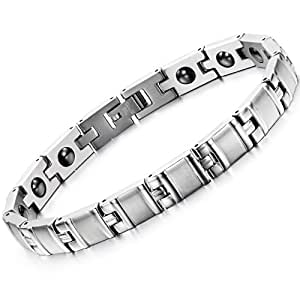 EBASE Men's Titanium Magnetic Therapy Bracelet Men's Bracelet with a Free Gift Box