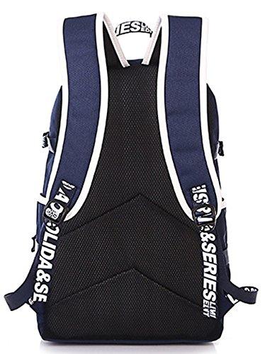 Longzibog Dual verstellbare Schultergurte und Hängeschlaufenband 2016 Neue Maedchen Rucksack Schulranzen Mehrfarbig 2