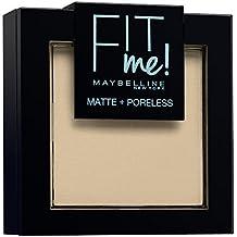 Maybelline New York Fit Me Matte&Poreless Cipria Opacizzante, 105 Natural