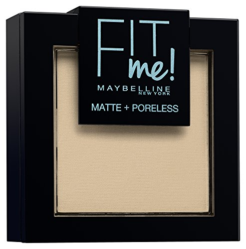 Maybelline New York Fit Me Matte&Poreless Cipria Opacizzante, 105 Natural