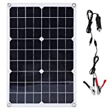 CremeBruluee 20W Monokristalline Flexible Solar Panel Solar Power System für Off Grid RV