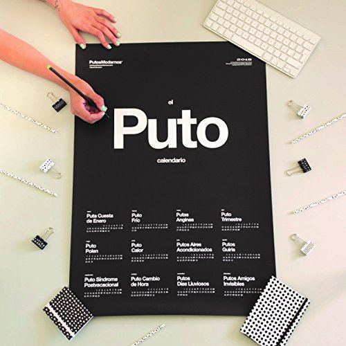 D,casa Calendario de pared mas chulo El Puto Calendario 2018
