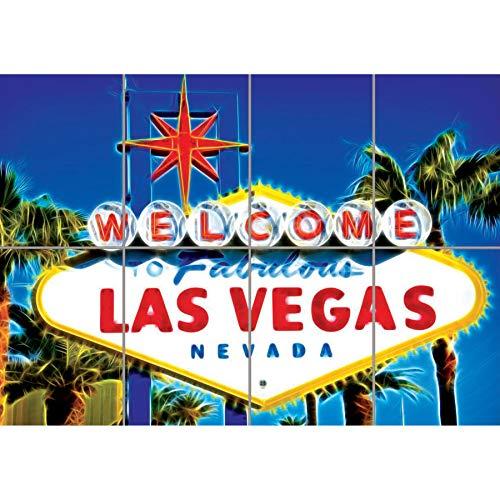 WELCOME LAS VEGAS SIGN GIANT WALL ART POSTER PLAKAT DRUCK B605 (Las Vegas Sign Poster)