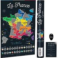 Grattez la France ! La seule carte à gratter de la France, avec les régions, les 101 départements, les villes et même les DOM-TOM ! Grattez aussi les spécialités culinaires ! De la gaufre en passant par les accras de morue, découvrez et grattez les p...
