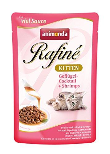 Animonda Rafiné Kitten Katzenfutter, Nassfutter für junge Katzen, 12 x 100 g