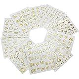 10X 3D Oro Pegatinas Nail Art DIY Decoración Uñas Stickers Manicura para Mujer