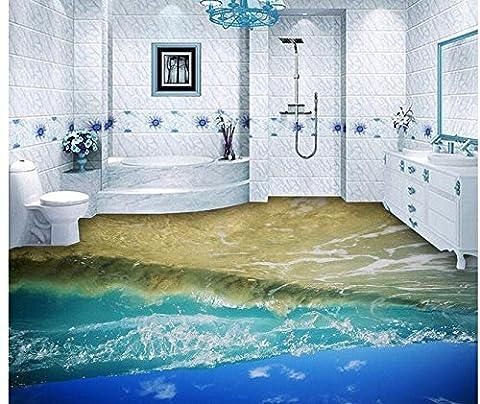 Sykdybz 3D-Stock Malerei Wallpaper Öl Gemälde Ocean Wave 3D Stock Dekoration Malerei 3D Wallpaper 3D Bodenbeläge-250Cmx175Cm