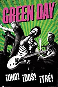 Posters: Green Day Poster - Uno! Dos! Tre! Tour (91 x 61 cm)