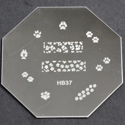 Nail Art emboutissage des tôles - HB37 CODE : HB37-plaque