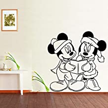 CXXZICASD Adhesivos Decorativos Infantiles Mickey Mouse Leyendo vinilos de Pared 56 * 54CM