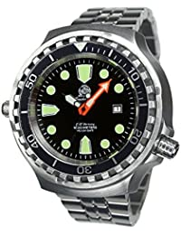 52mm diver watch -automatic movt. sapphire glass -metall band T0285-M