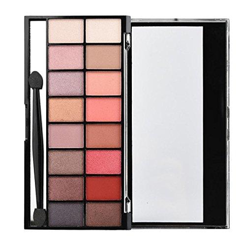 Gaddrt 16 Couleurs perle Matte ombre à paupières Eye Shadow palette & maquillage brosse cosmétique ensemble (A)