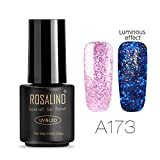 Zarupeng 7ml Leuchtender Nagellack, UV Gel Nail Polish Soak Off Nagel Kunst Überlack Grundschicht Gel für Glow in the Dark (One Size, C)