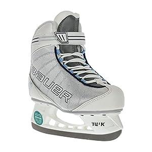 BAUER – Damen Schlittschuhe Flow Rec Ice I hochwertige Schlittschuhe mit Edelstahlkufe I Knöchelpolsterung I bequeme Eishockey-Schlittschuhe I ideal für Einsteigerinnen I Gefüttert – Weiß