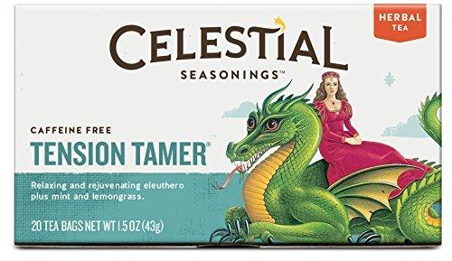 Celestial Seasonings Tension Tamer Herbal Tea, 20 Count (Pack of 6) by Celestial Seasonings (Tension Tamer Tee)