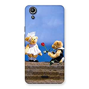 Delighted Proposal Teddy Multicolor Back Case Cover for Micromax Canvas Selfie Lens Q345